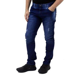 Calça Jeans Slim Masculina Ennafie