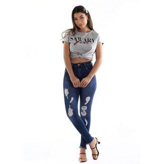 Calça jeans  super lipo Sawary feminina