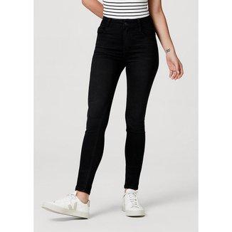 Calça Jeans Super Skinny Cintura Alta Soft Touch Feminina