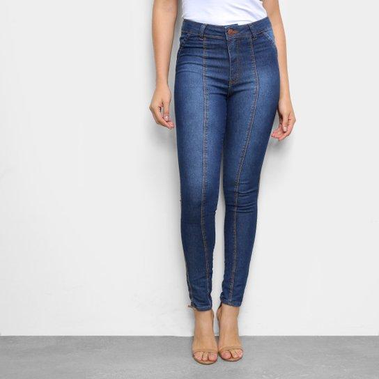 Calça Jeans TKS Skinny Frisos Feminina - Azul