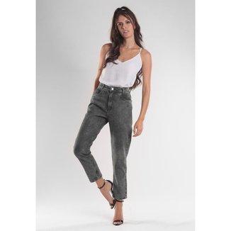 Calça Jeans Traymon Mom 5 Bolsos Lavada Feminina