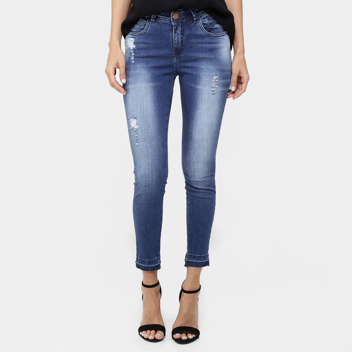 5cc3aee71 Calça Jeans Uber Skinny Estonada Com Barra Desfiada - Compre Agora | Zattini