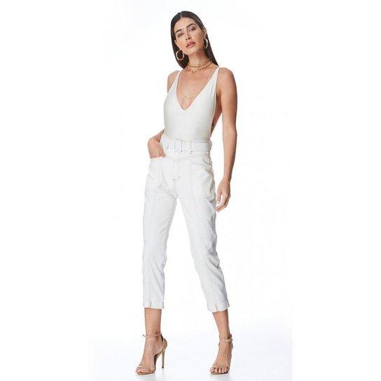 Calça Jeans Zait Mom Cibele Feminina - Branco