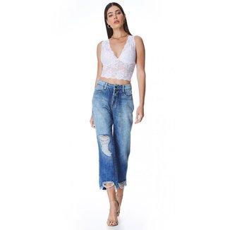 Calça Jeans Zait Mom Selvagem Feminina
