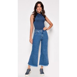 Calça Jeans Zait Wide Leg Libelula