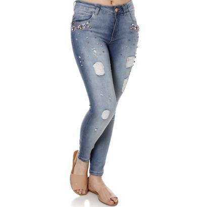 Calça Jeans Zune Skinny Feminina-Feminino