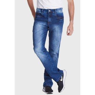 Calça Jeans Zuren Reta Plus Estonada Azul