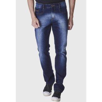 Calça Jeans Zuren Reta Used Azul Escuro