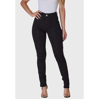 Calça Jeans Zuren Skinny  Cintura Alta Preta