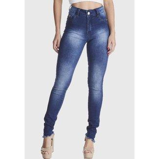 Calça Jeans Zuren Skinny Levanta Bum Bum Azul