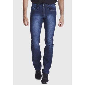 Calça Jeans Zuren Skinny Stone Used Azul Escuro