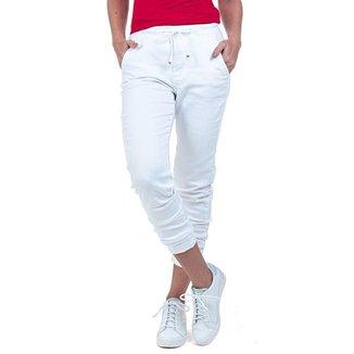 Calça Jogger Color em Sarja de Moletom Feminina