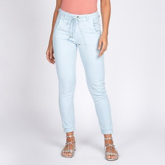 Calça Jogger Jeans Color Cor Azul Baby