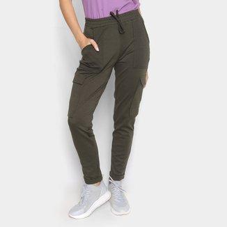 Calça Jogger Moda Loka Cargo Com Bolsos Feminina