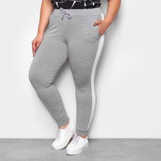 Calça Jogger Plus Size ESV Faixa Lateral Feminina