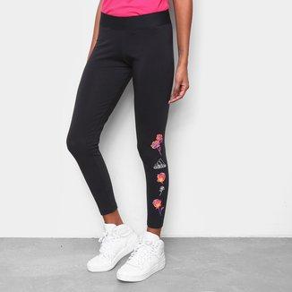Calça Legging Adidas Floral Feminina