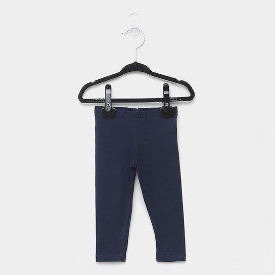 Calça Legging Bebê Elian Cotton Confort Feminina - Marinho
