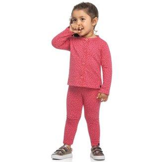 Calça Legging Infantil Elian Estampa Oncinha Feminina