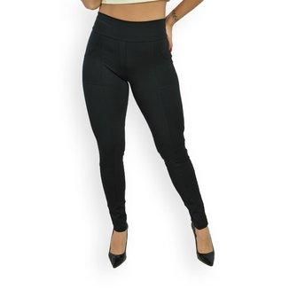 Calça Legging Montaria Lavicta Fitness Cintura Alta com Bolso Feminina