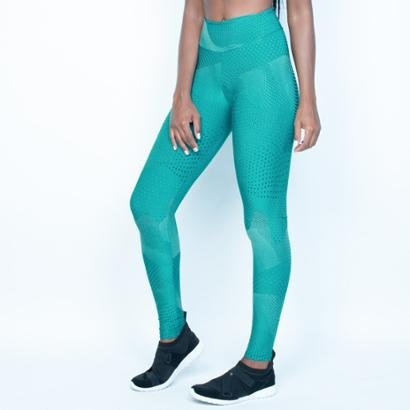 Calça Legging Poliamida Textura Formas Feminina-Feminino