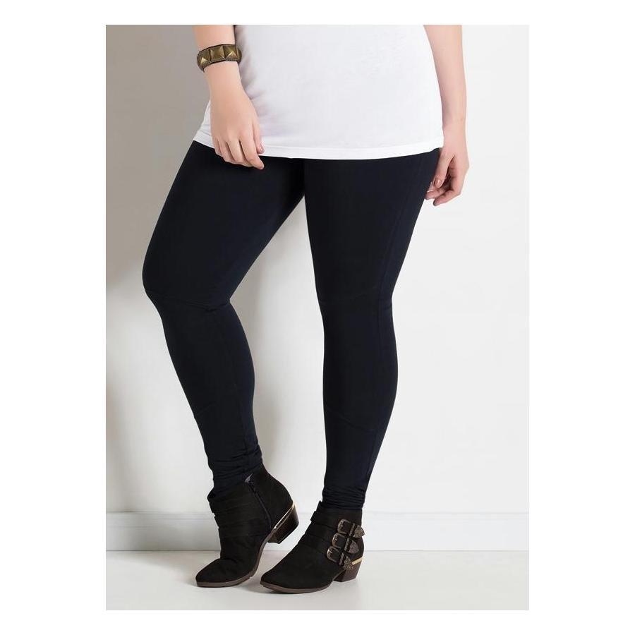94757b5ff Calça Legging Preta Quintess Plus Size   Zattini