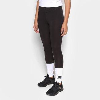 Calça Legging Puma Essentials+ Color Block Feminina