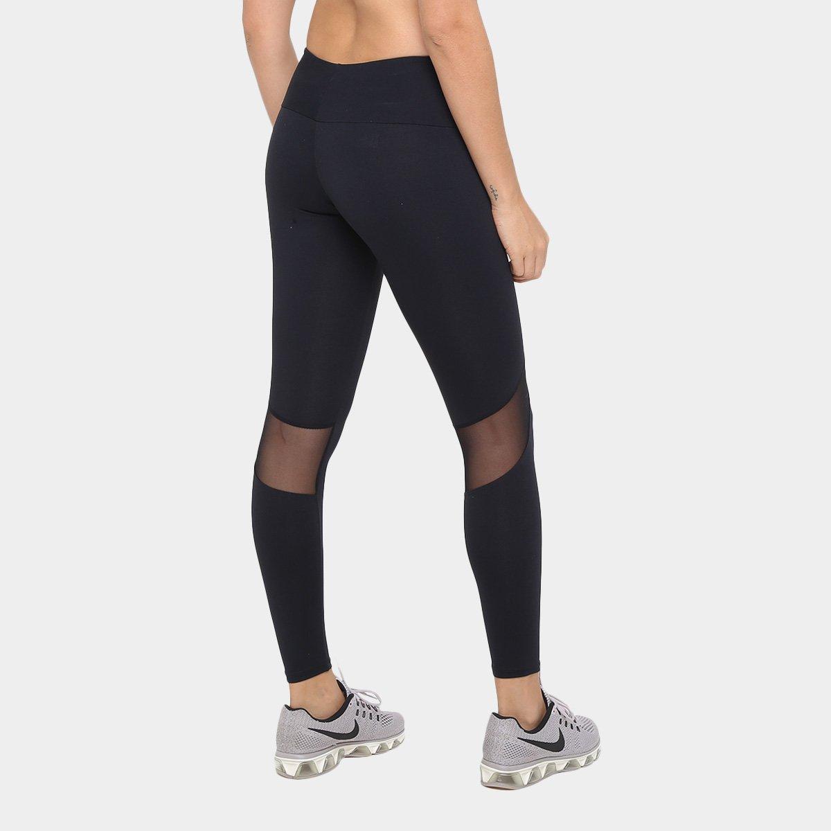 77ce9c0de ... Calça Legging Sawary Fitness Com Renda Lyon Victória Feminina ...