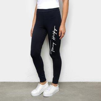Calça Legging Tommy Hilfiger Básica Logo Feminina