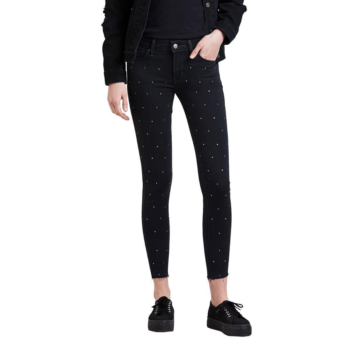 Calça Levi s Skinny Ankle Feminina - Preto - Compre Agora  be4cd11c48d