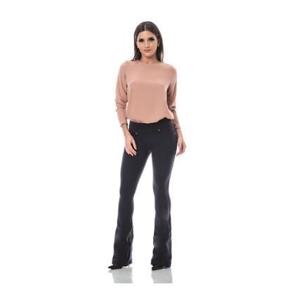 Calça Lizerrô Flare Amni Plus Size Feminina-Feminino
