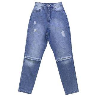 Calça Look Jeans MOM Jeans - UNICA - 34