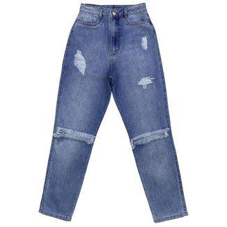 Calça Look Jeans MOM Jeans - UNICA - 40