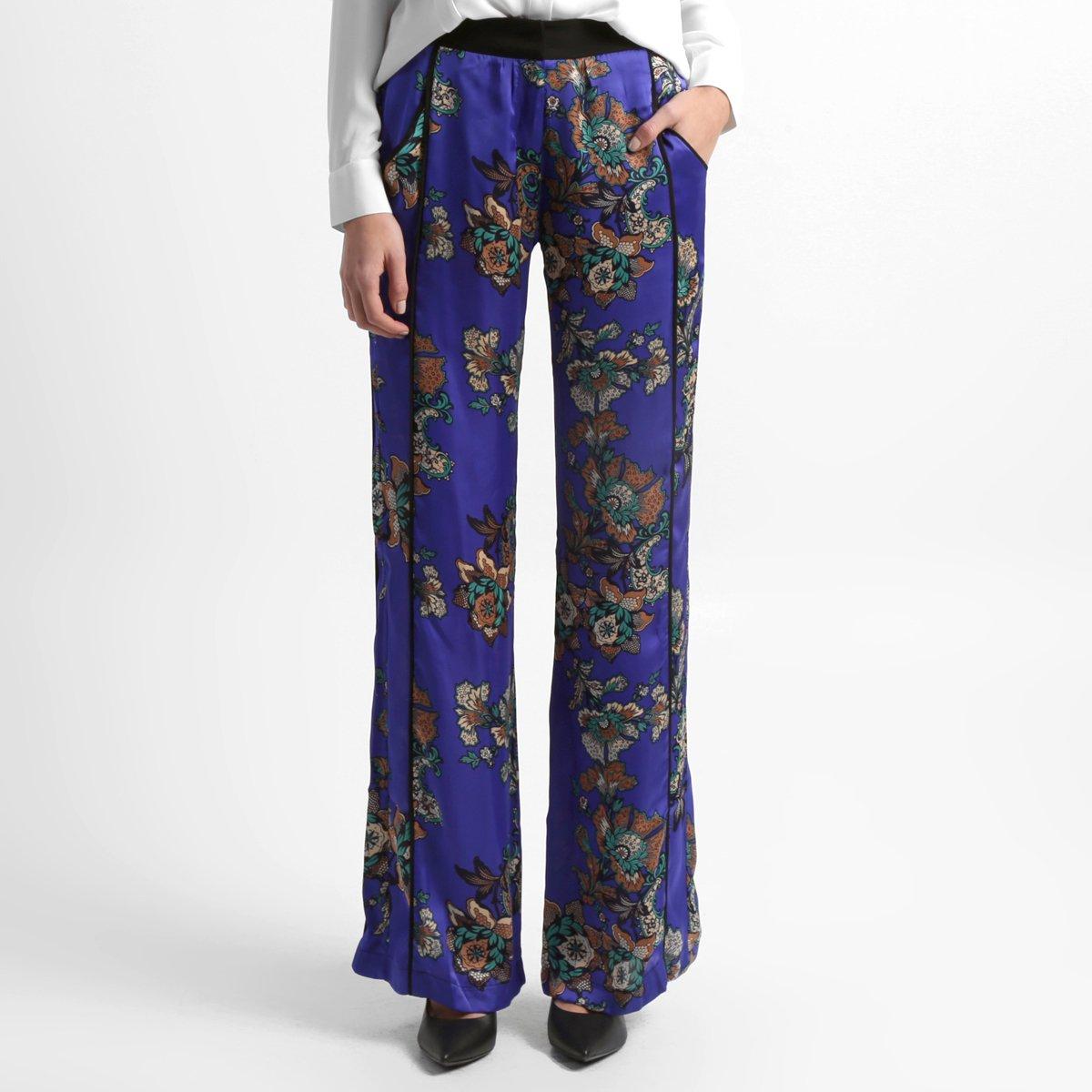 Calça Pantalona Floral Zattini
