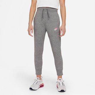 Calça Moletom Infantojuvenil Nike NSW Jogger 7/8 Feminina