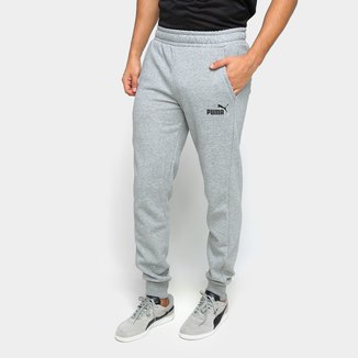 Calça Moletom Puma Essentials Logo Fleece Cl Masculina