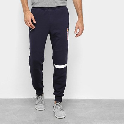 Calça Moletom Puma Red Bull Logo Sweat Pants Masculina