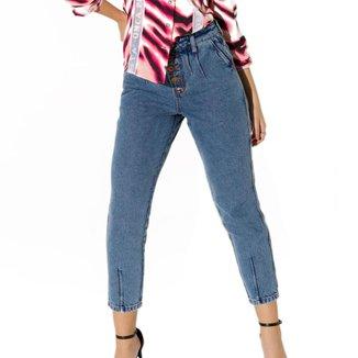 Calça Onça Preta Mom Baggy Jeans