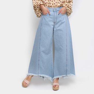 Calça Pantacourt Jeans Farm Reform Cintura Alta Feminina