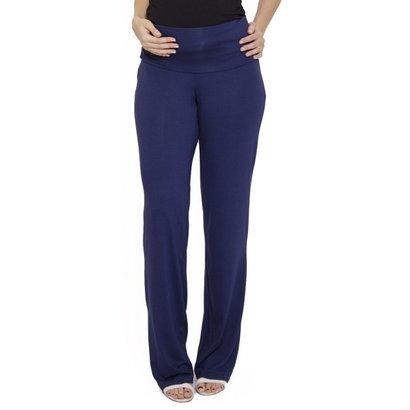Calça Pantalona Gestante Cós Super Alto - Feminino