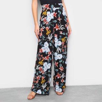 Calça Pantalona The Style Box Floral Feminina