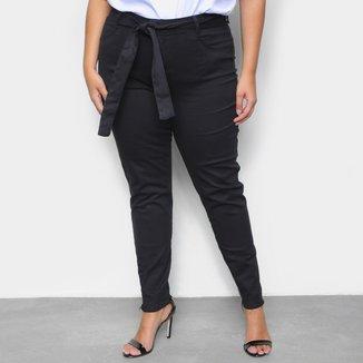 Calça Sarja Plus Size Cambos Skinny Cropped Feminina