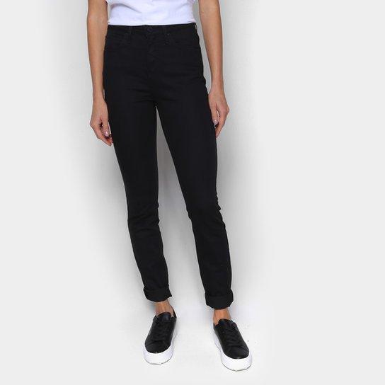 Calça Sarja Skinny Calvin Klein Cintura Média Feminina - Preto