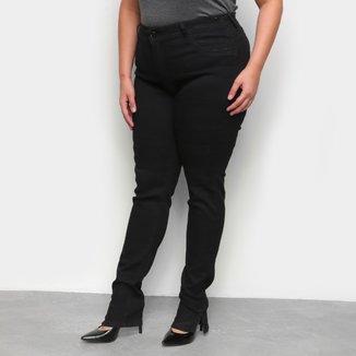 Calça Sarja SKinny Plus Size Ecxo Básica Feminina