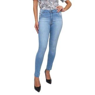 Calça Sisal Jeans Cigarrete Skinny Friso Lateral Maria Feminina