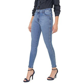 Calça Sisal Jeans Vicky Cigarrete Skinny Friso Lateral Feminina