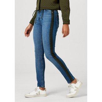 Calça Skinny Em Jeans De Algodão Com Bolso - H9921AEJ8 Feminina