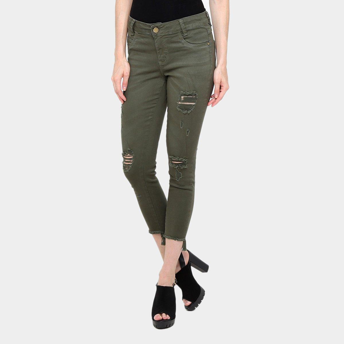 0d536bc1b Calça Skinny Sawary Barra Assimétrica Cintura Média Feminina - Compre Agora  | Zattini