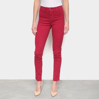 Calça Skinny Sawary Sarja Colors Cintura Alta Feminina