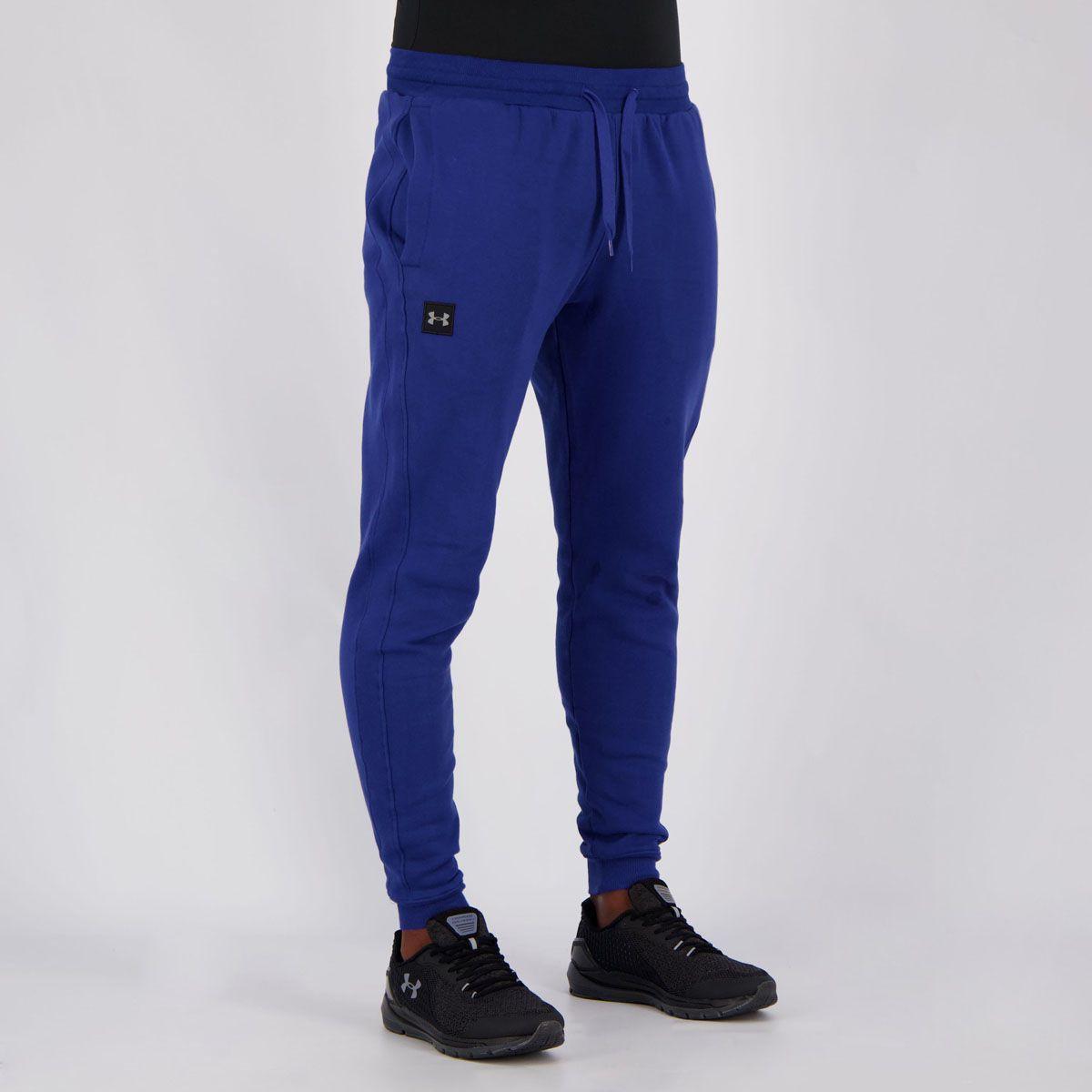 Calça Under Armour Rival Fleece Jogger Masculina - Azul