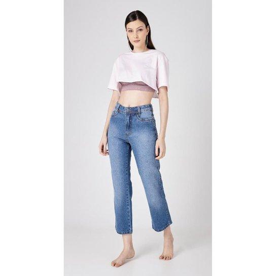 Calça Use Jeans Express Mom Clara Feminina - Azul